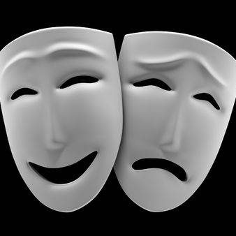 6722419-white-theatrical-masks-of-a-comedy-and-tragedy